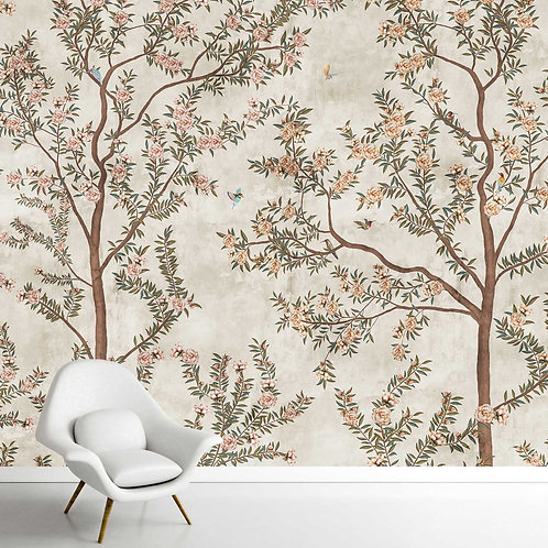 Chinoiserie Pattern Wallpaper for Walls