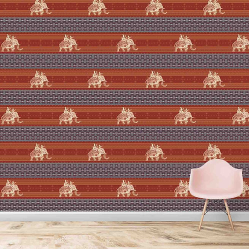 Elephant repeat indian pattern, fabric texture , premium wallpaper