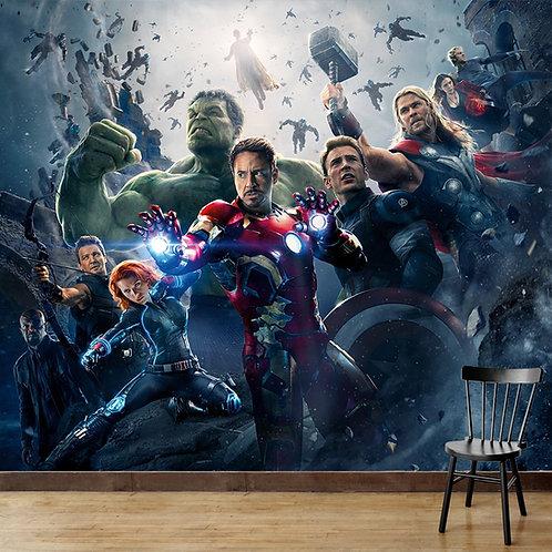Avengers, wall mural for kids room