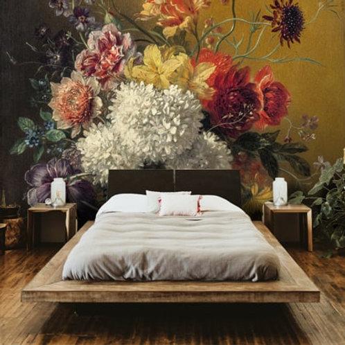Flower bouquet painting, wallpaper