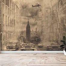 lifencolors-wallpaper-abstract-sketch-worldwar-bedroom-livingroom