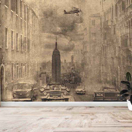 lifencolors-wallpaper-abstract-sketch-worldwar-bedroom-livingroom