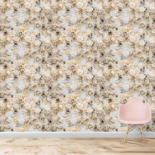 Repeat pattern of roses, vintage look , premium realistic wallpaper