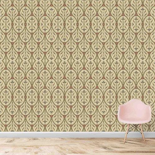 Repeat floral pattern, premium looking wallpaper