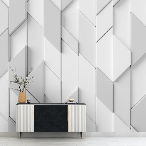 Abstract 3D Design, Geometrical pattern, Customised Wall paper