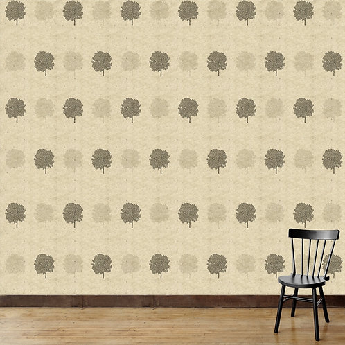 Tree motifs with hand made paper texture, perfect wallpaper for every room
