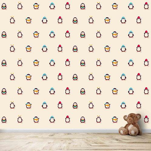 Small Penguin Motifs Kids Wallpapers