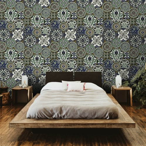 Persian design, plate repeat pattern, suitable for all rooms