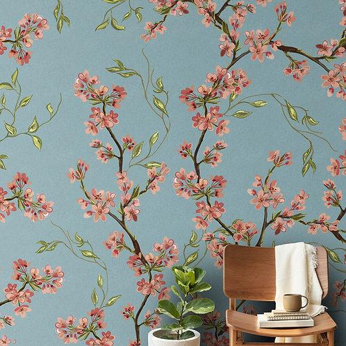 Floral Repeat Design Wallpaper