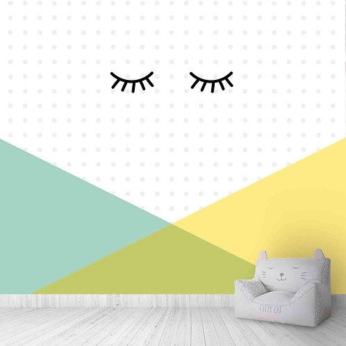 Sleepy Eyes, Geometric, Polka Dots Cute design wallpapers for kids room