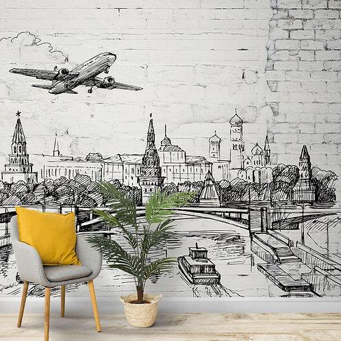 Pen Scribble Art Wallpaper, Sketch Look