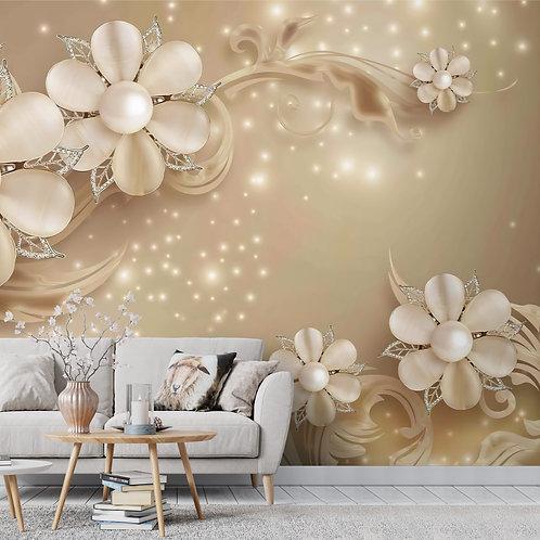3D Large Floral Wallpaper for Walls
