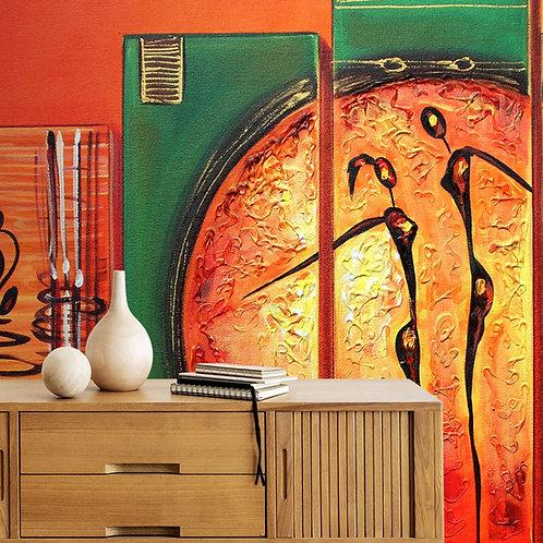 Beautiful Abstract Acrylic Artwork Theme Wallpaper