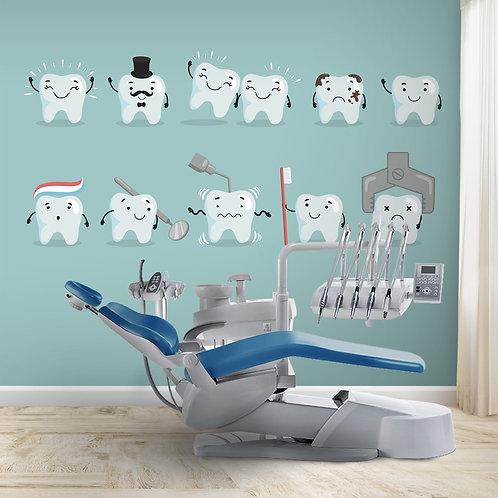 Cute Teeth Wallpaper For Dental Clinics