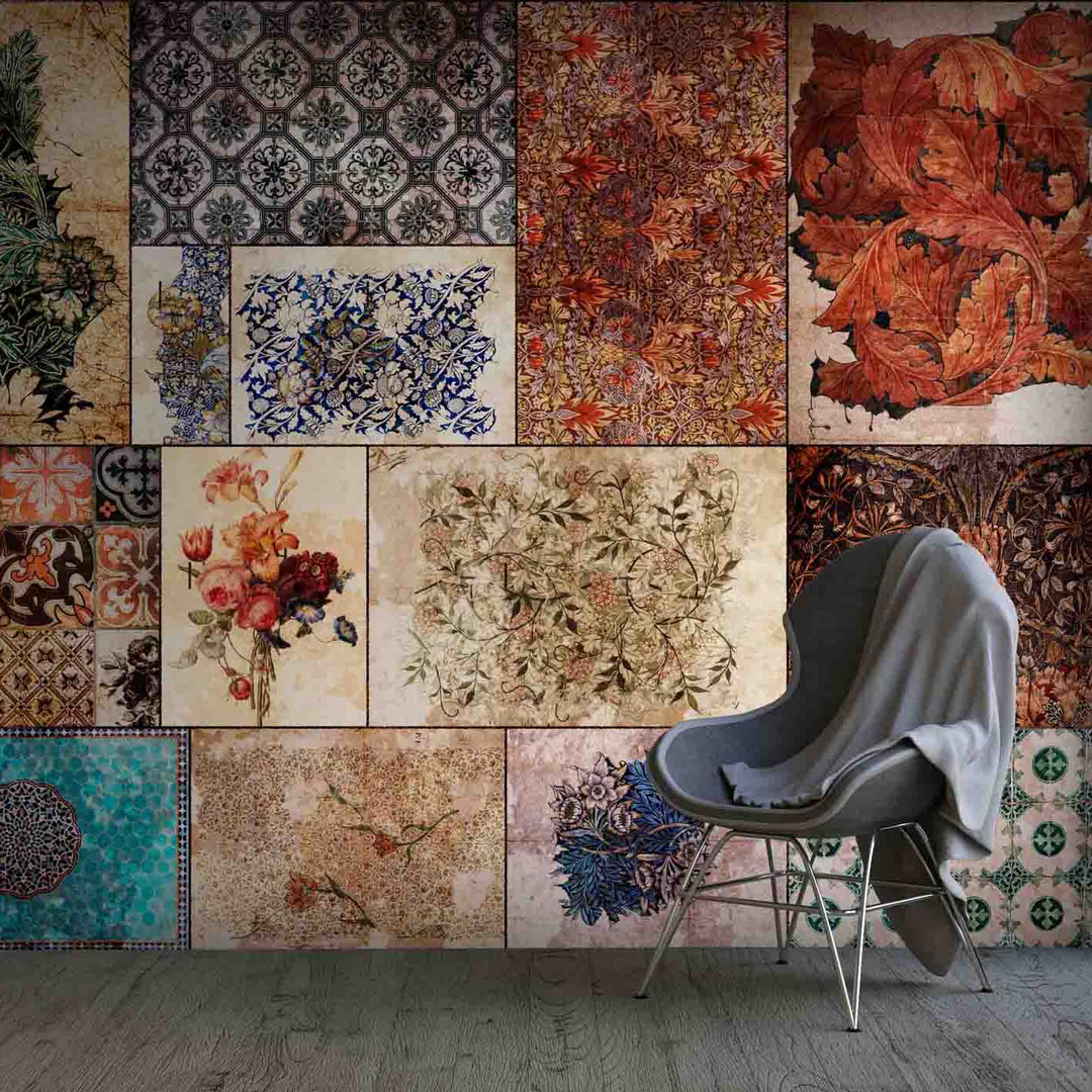 lifencolors-wallpaper-floral-tiles-vintage-art-abstract