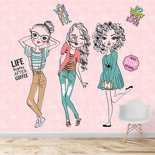 Fancy Fashion Girls Wallpaper