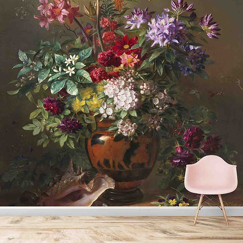 3D Look Flower Vase Painting