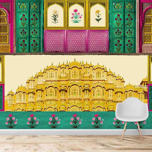 Rajasthan Fort Inspired Customised Wallpaper