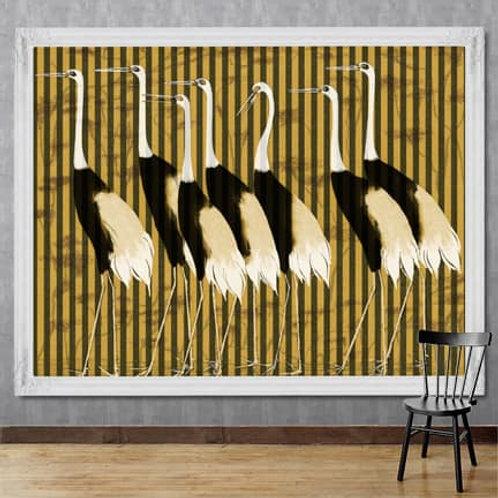 Beautiful Cranes Painting