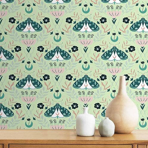 Bug Design, Floral Wall Paper, Customised design