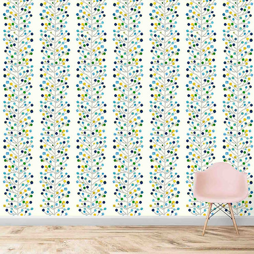 Water painted colourful panels wallpaper