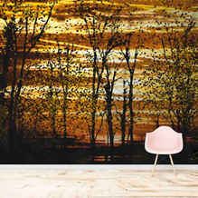 lifencolors-wallpaper-leaves-forest-abstract-painting-1-bedroom-livingroom