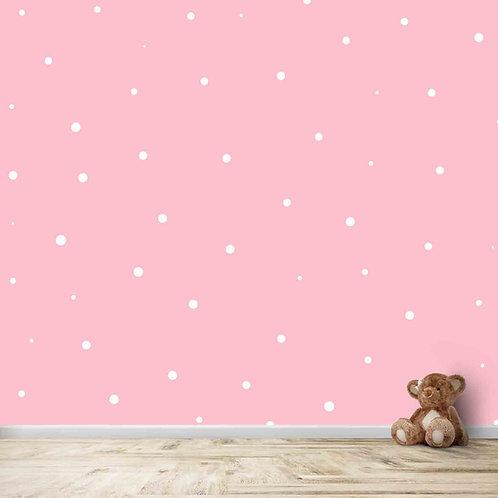 Polka dot design wallpaper for kids room