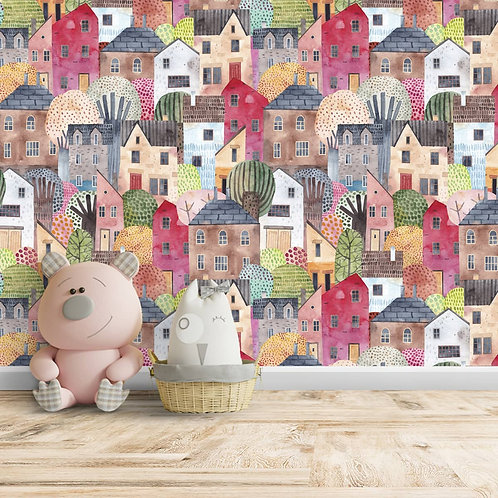 House Repeat Pattern for kids Room