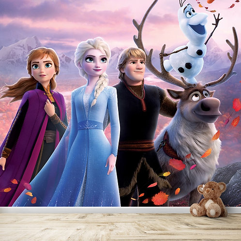 Premium Frozen Movie Wallpaper for Kids Room