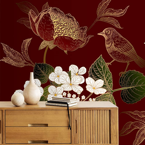 Big Floral Design With White flowers