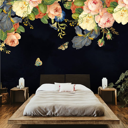 Floral Wallpaper for Bedroom Walls