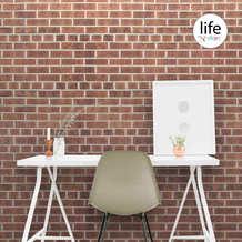 Red brick wallpaper for walls