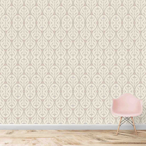 Repeat subtle floral pattern, premium looking wallpaper