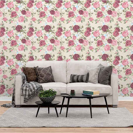 lifencolors-wallpaper-floral-rose-beige-white-repeat-bedroom-livingroom
