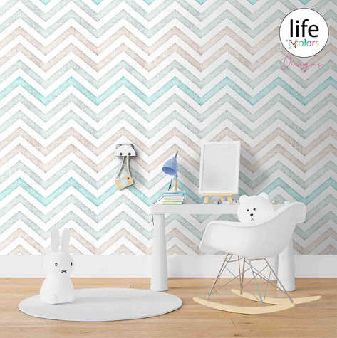 Chevron print wallpapers by Lifencolors Gurgaon