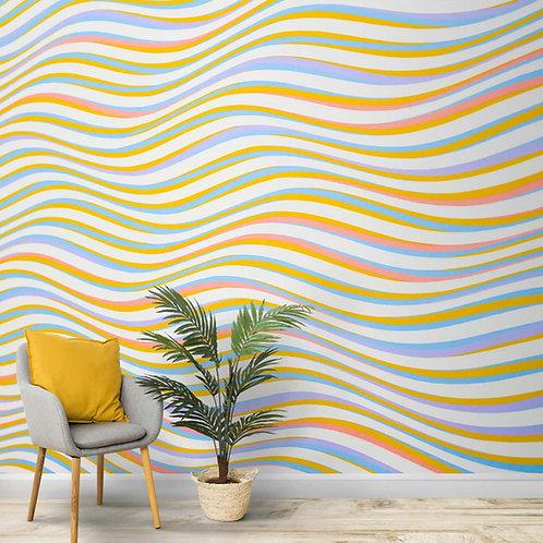 Abstract Wavy Pattern Wallpaper