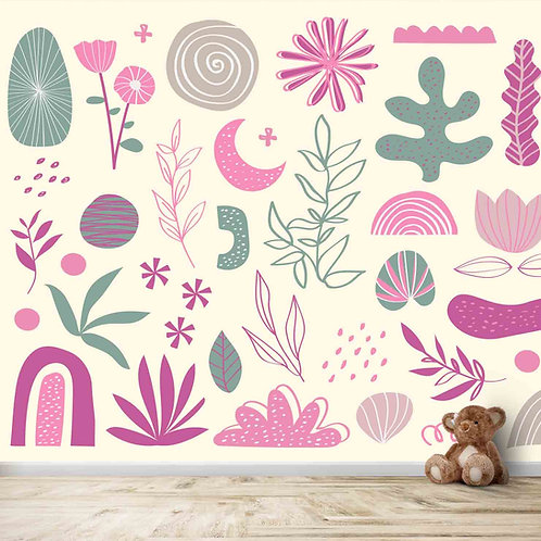 Pretty Sea Plants Theme Wallpaper for Young Kids Rooms