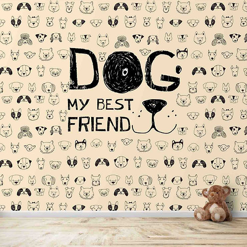 Dogs faces theme for kids room