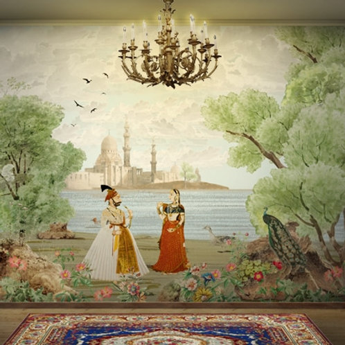 Mughal theme Indian wallpaper