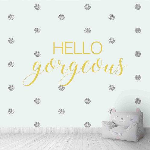 Hello gorgeous wallpaper for kids room