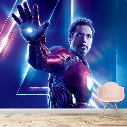Iron man, wall mural for kids room