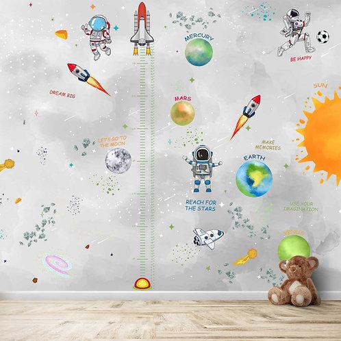 Space Kids Room Wallpaper by Life N Colors