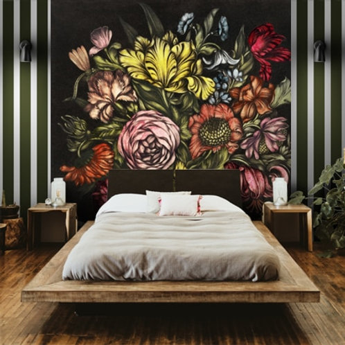 Flower Vase Painting Wallpaper