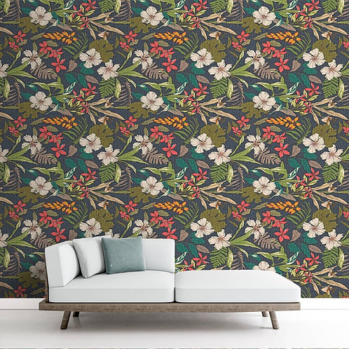 Repeat Floral Pattern, Customised for Rooms