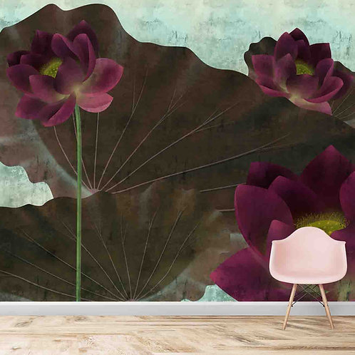 Customised Lotus Wall Mural for Walls
