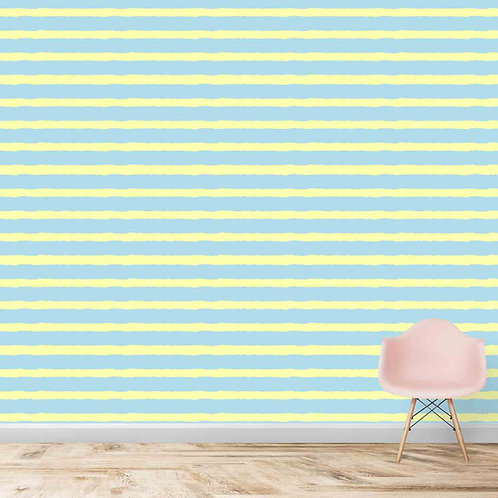 Horizontal Colorful Stripes Wallpapers For kids Room
