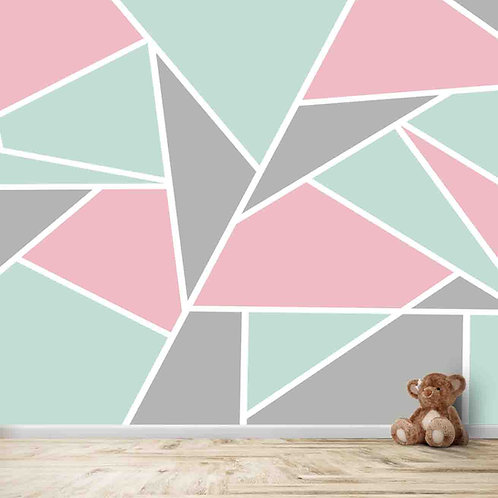subtle geometric design, wallpaper for all kids of rooms