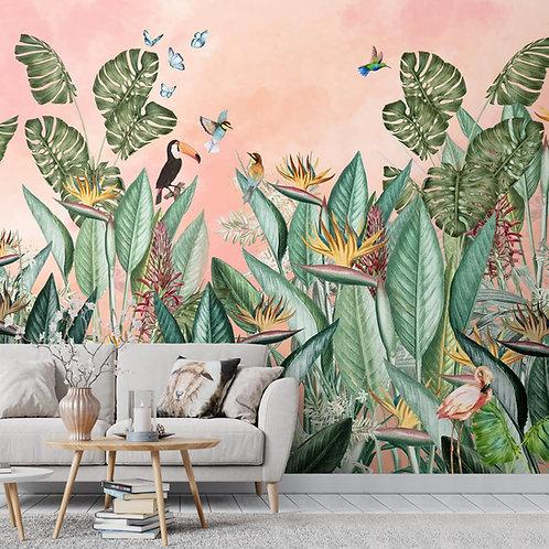 Tropical Theme-Birds of Paradise, Designer Wallpaper