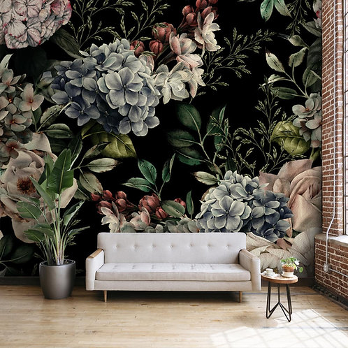 Flowers with Watercolor Effect, Customised Wallpaper