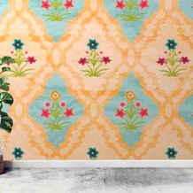 lifencolors-wallpaper-floral-repeat-yellow-bedroom-livingroom